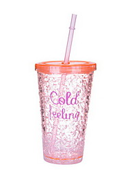 Summer Sraw Plastic Creative Readily Cups