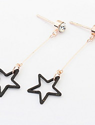 Euramerican Fashion Simple Style  Contracted Stars Earrings Lady Daily Stud Earrings Gift Jewelry