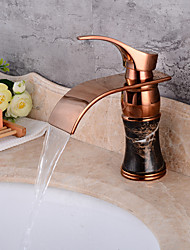 Centerset Waterfall One HoleBathroom Sink Faucet