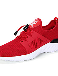 Men's Sneakers Light Soles Tulle Summer Fall Casual Red Black 1in-1 3/4in
