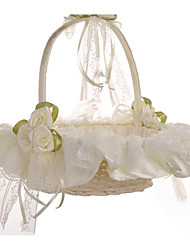 Bud Silk Cloth Art Wedding Flower Basket Flower Basket Bridesmaid Basket