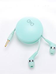 Diid id49 dans les écouteurs d'oreille avec microphone écouteur de nouilles écouteurs mignons