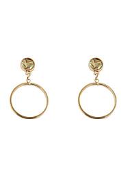 Fashion Women Shell Finish Circle Drop Earrings