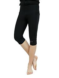 Hombre Pantalones capri 3/4 de running Mantiene abrigado Shorts/Malla corta para Taekwondo Ejercicio y Fitness Terciopelo Apretado Negro