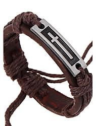 Муж. Кожаные браслеты Бижутерия Природа бижутерия Мода Кожа Сплав Бижутерия Назначение Особые случаи