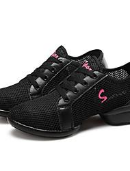 Keine Maßfertigung möglich Damen Tanz-Turnschuh Sneakers Praxis Blockabsatz Weiß Schwarz Rot 5 - 6,8 cm