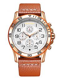 Masculino Relógio Esportivo Relógio Elegante Relógio de Moda Chinês Quartzo Calendário Couro Legitimo BandaPendente Criativo Elegantes