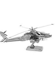 Quebra-cabeças Quebra-Cabeças 3D Blocos de construção Brinquedos Faça Você Mesmo Helicóptero Aço Inoxidável Modelo e Blocos de Construção
