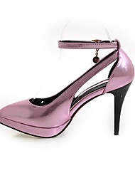 Women's Heels Comfort Ankle Strap Light Soles Patent Leather Spring Office & Career Party & Evening Dress Comfort Ankle Strap Light Soles