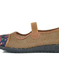 Women's Flats Comfort Tulle Summer Casual Buckle Flat Heel Camel Ruby Flat