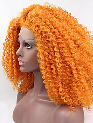 Synthetic Lace Front Wigs for Black Women Afro Kinky Curly  Synthetic Wigs Heat Resistant Orange Hair Glueless Lace Wigs