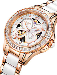 Women's Skeleton Watch Fashion Watch Mechanical Watch Japanese Automatic self-winding Water Resistant / Water Proof Alloy Ceramic Band