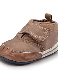 Newborn Baby Kids' Sneakers First Walkers Twill Fall Winter Party & Evening Dress Casual Hook & Loop Flat Heel Khaki Navy Blue Flat