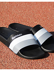 Men's Sandals Comfort Cowhide Spring Casual Light Blue Navy Blue White Flat