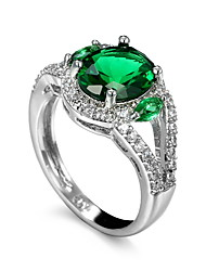 Men's Ring Emerald Unique Design Fashion Euramerican Costume Jewelry Zircon Emerald Alloy Jewelry Jewelry For Wedding Special Occasion