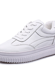 Women's Sneakers Creepers Nappa Leather Spring Outdoor Casual Creepers White 1in-1 3/4in