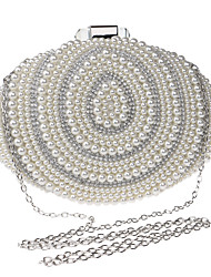L.WEST Women's fashion pearl Dinner BagWomen's fashion pearl Dinner Bag
