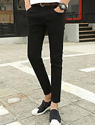 Homme Street Chic Taille Normale Micro-élastique Jeans Pantalon,Mince