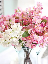 1 Une succursale Soie Autres Cerisier du Japon Fleurs artificielles