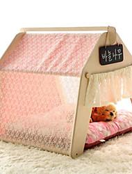 Кошка Собака Кровати Животные Коврики и подушки Однотонный Мягкий Световой тент