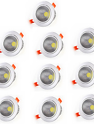 10pcs 3W COB Led Downlight Recessed Lamp Home Led Epistar Spot LED Downlights Warm White Cool White Decoration Light Adjustable AC85-265V