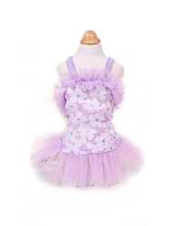 Vestidos Roupas para Cães Fofo Da Moda Princesa Roxo Rosa claro