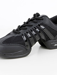 Customizable Women's Dance Sneakers Leatherette Synthetic Sneakers Practice Black