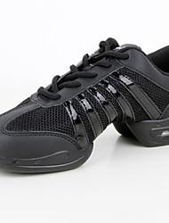 Maßfertigung Damen Tanz-Turnschuh Atmungsaktive Mesh Kunststoff Kunstleder Sneakers Praxis Niedriger Heel Schwarz 2,5 - 4,5 cm
