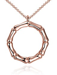 Жен. Ожерелья-бархатки Ожерелья с подвесками Бижутерия Круглой формы Геометрической формы Хрусталь Медь Позолота Позолоченное розовым