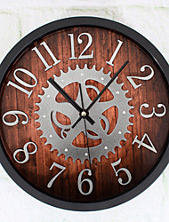 Retro Wall Clock,Round Indoor Clock