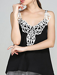 Women's Going out Sexy Blouse,Solid Strapless Sleeveless Silk Sheer