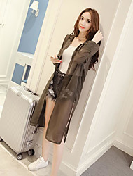 Damen Solide Einfach Lässig/Alltäglich Hemd,Quadratischer Ausschnitt Sommer Langarm Polyester