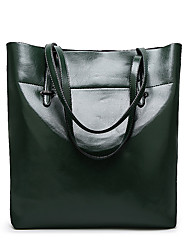 L.WEST Women's The Large Capacity Oil Wax Skin Tote