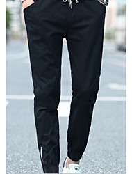 Men's Low Rise strenchy Chinos Pants,Punk & Gothic Loose Solid