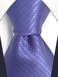 CXL6 Unique Classic Men Neckties Lavender Solid 100% Silk Business Casual Fashion Extra Long