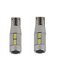 5w blanco azul rojo amarillo dc12v t10 canbus 10led smd5630 led lente sin luz de inspección de error luz de lectura 2pcs