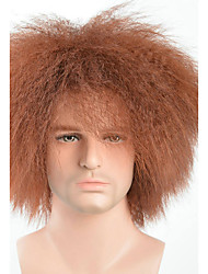 Fashion Sexy Men Or Women Short Curly Wigs Brown Color Cosplay Synthetic Wigs