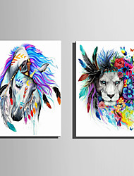 E-HOME Stretched Canvas Art Garlands Of Animals Decoration Painting One Pcs