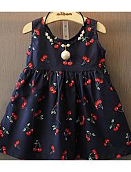 Menina de Vestido Floral / Botânico