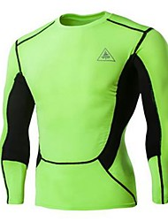 Cycling Jersey Men's Long Sleeve Bike Sweatshirt Tops Quick Dry Breathable Sweat-wicking Sports Exercise & Fitness Leisure SportsGreen