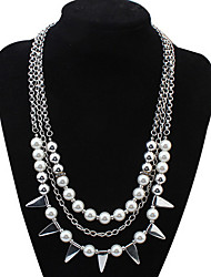 Women's Choker Necklaces Layered Necklaces Imitation Pearl Jewelry Imitation Pearl AlloyBasic Pearl Natural Friendship Hip-Hop Chrismas