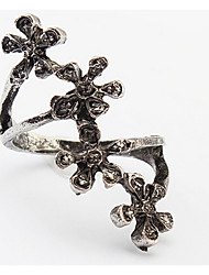 Euramerican Fashion Punk Personalized  Flower Rings Couple's Daily Cuff Ring Statement Jewelry