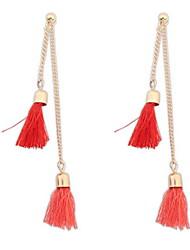 Women's Stud Earrings Drop Earrings Hoop Earrings JewelryBasic Unique Design Logo Style Tassel Friendship Sideways Multi-ways Wear Double
