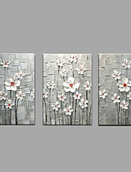 Modern Handmade Knife White Flower Oil Painting Home Decor with Stretched Framed Ready to Hang