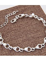 Per donna Bracciali a catena e maglie Perle finte Strass Di tendenza bigiotteria Lega Circolare Gioielli Per Casual
