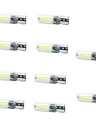 10pcs met en surbrillance t10 lampe de largeur 2cob 150lm couleur blanche décodage largeur de conduite lumière dc10-30v