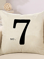 1 Pcs NO. 7 Quotes & Sayings Printing Pillow Cover Creative Sofa Cushion Cover Cotton/Linen Pillow Case 45*45Cm