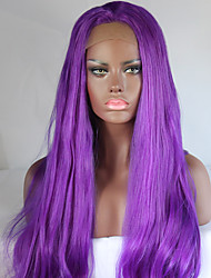 Women's Synthetic Wig Long Straight Hair Purple Color Wig New Style Cospaly Wigs