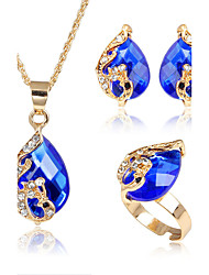 Women's Jewelry Set Acrylic Fashion Euramerican Costume Jewelry Alloy Animal Shape 1 Necklace 1 Pair of Earrings 1 Bracelet 1 Ring For