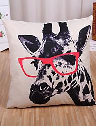 1 Pcs Classic Creative Giraffe Pattern Pillow Cover Cotton/Linen Pillow Case Home Decor